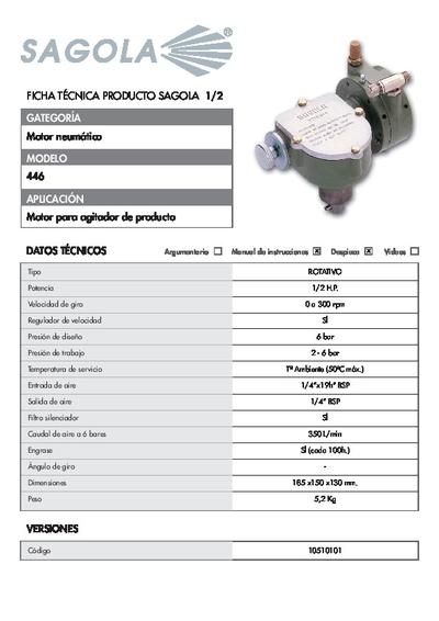 Ficha técnica Motor Neumático 446
