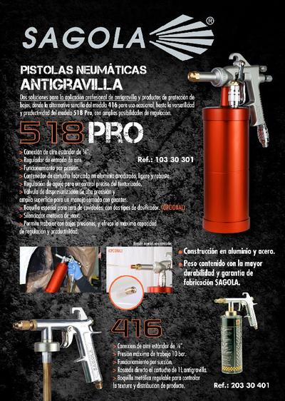 Pistolas neumáticas antigravilla 518 PRO y 416