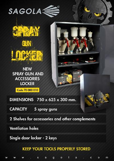Spray gun locker