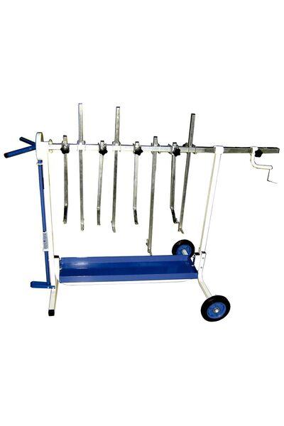 Rotating panel rack