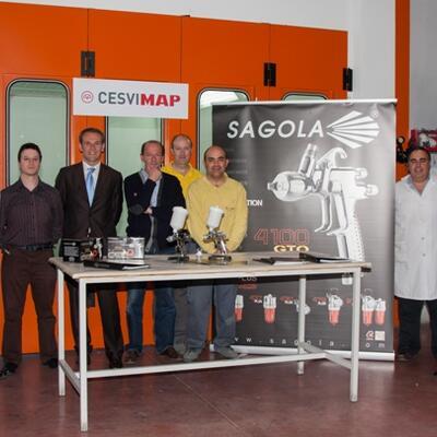 Presentación de la nueva pistola de pintura 4100 GTO en CESVIMAP