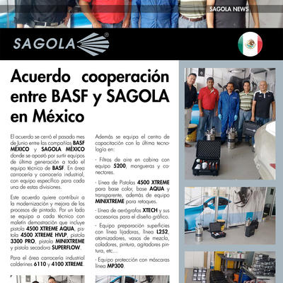 Acuerdo cooperación entre BASF y SAGOLA en México